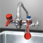 Eyewash, Faucet Mount, Pull Handle, No Bowl