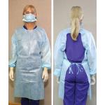 Crosstex Gown, open back - light blue