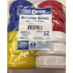 Defend Retainer Cases Assorted Colors - 12/Pack