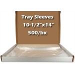 "Tray Sleeves Plastic Ritter B 10-1/2"" x 14"" 500/bx. - MARK3"