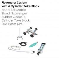 Belmed Flowmeter System with 4 Cylinder Yoke Block - 5142-S