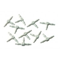 "1/16"" Barb Tee, Plastic; Pkg of 10"