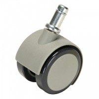 Caster, Soft Wheel For Hard Floors, Gray