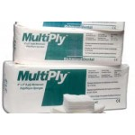 Richmond Multiply Non-Woven Sponges, 2x2 8-ply, Polyester/Rayon, Non-Sterile, 100 Sponges/Sleeve, 30 Sleeves