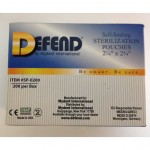 Defend 2.25 X 2.34 Self-Sealing Sterilization Pouches